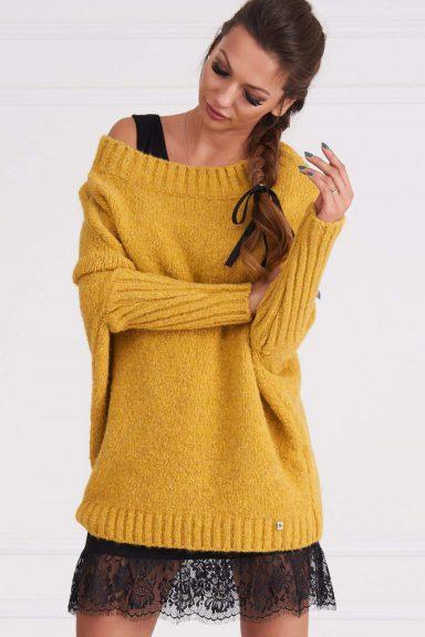 Cocomore czarna bawełniana halka z koronka pod sweter sukienkę