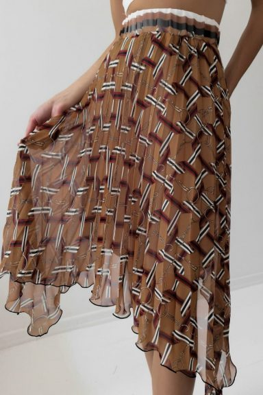 Cocomore spódnica plisowana brązowa 36
