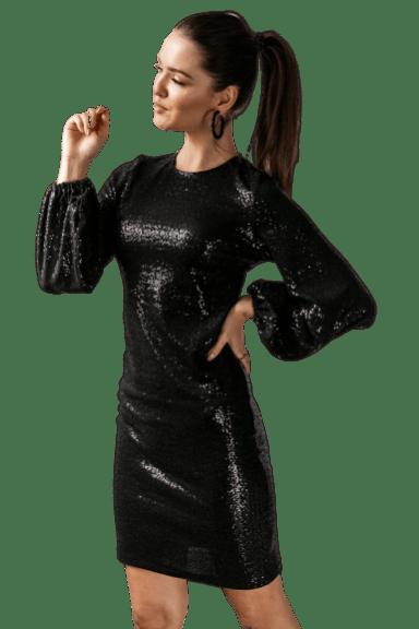 Cocomore czarna sukienka cekinowa na sylwestra 36