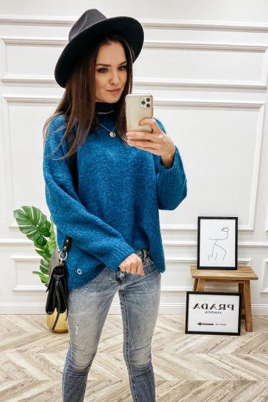Cocomore sweter turkusowy półgolf