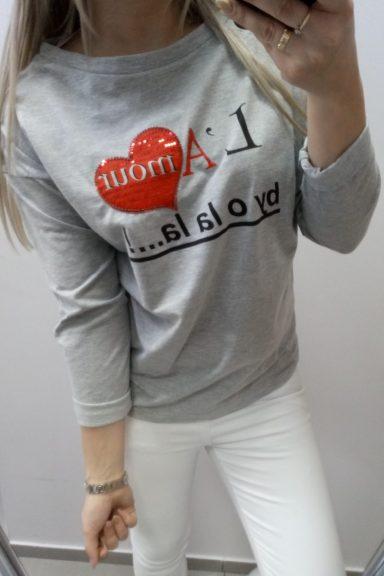 By o la la bluzka szara Lamour 36 S