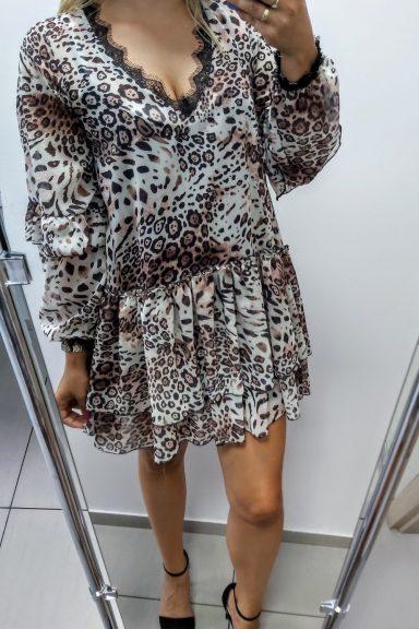 ONE sukienka w panterkę