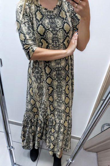 Mi mi długa sukienka motyw węża