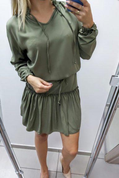 TMC khaki sukienka rozkloszowana