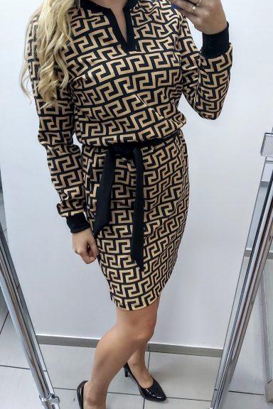 Oliwia sukienka w geometryczne wzory 40 L