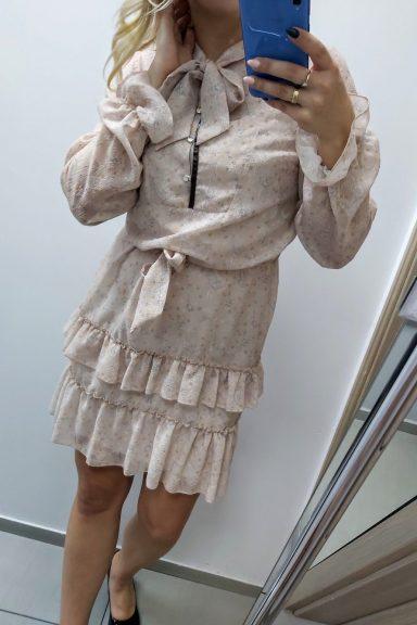 Sempre sukienka beżowa 36 S