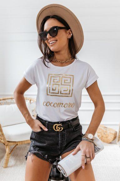 Cocomore biała bluzka labirynt 38