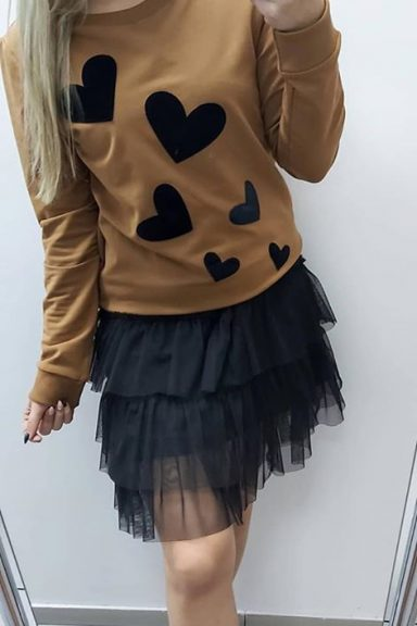 Minouu beżowa halka pod swetry i sukienki