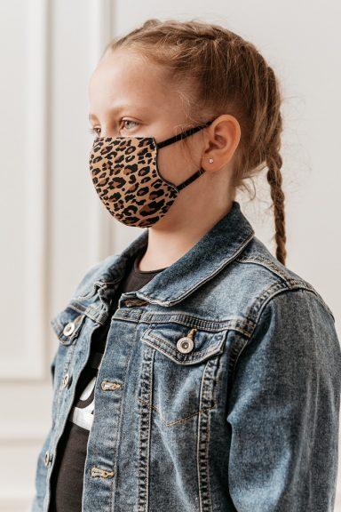 Cocomore maseczka panterka dziecięca na twarz XS S