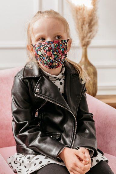 Cocomore maseczki cukierki dziecięce na twarz zestaw 2szt XS S