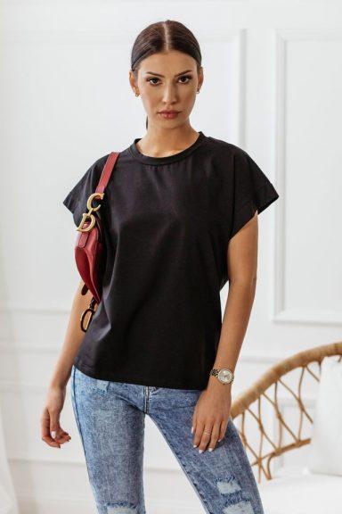 Cocomore czarna bluzka T-shirt gładka M 38