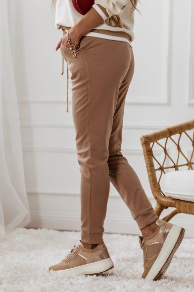 Cocomore karmelowe spodnie do bluzy dres S