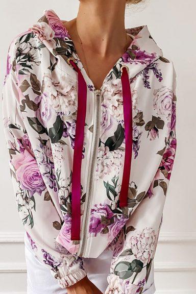 Cocomore bluza kolorowa dres zamek lila S