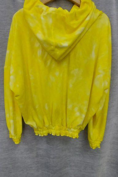 Cocomore bluza żółta napis kaptur cieniowana M HIT