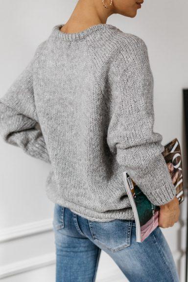 Cocomore sweter szary rulon