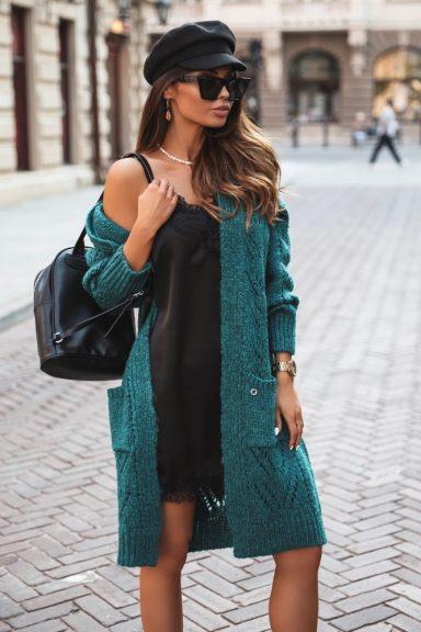Cocomore sweter kardigan butelkowa zieleń szmaragd