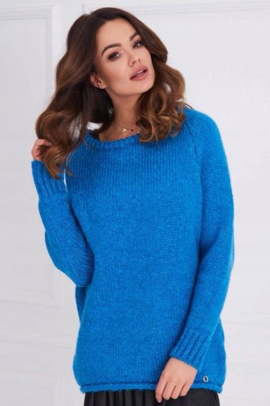 Cocomore sweter niebieski rulon