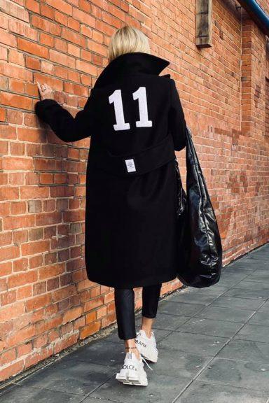 """By o la la czarny płaszcz """" 11 """" S"""