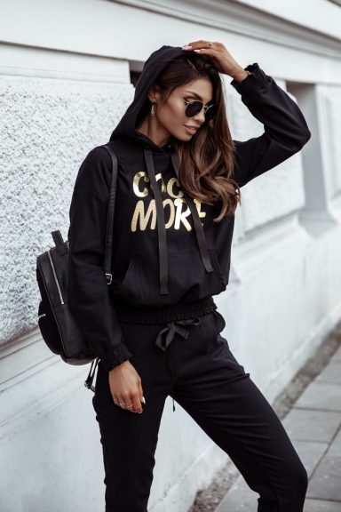 Cocomore czarna bluza z napisem M