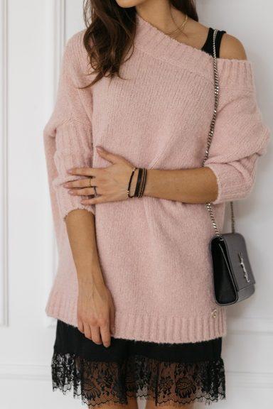 Cocomore sweter pudrowy róż trili