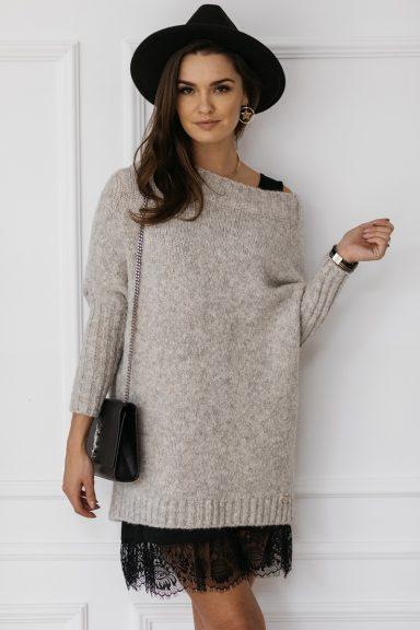 Cocomore sweter szary melanż trili