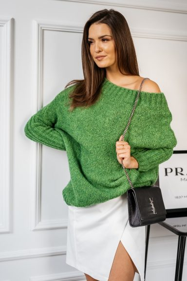Cocomore sweter zielony trili