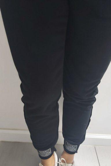 By o la la czarne spodnie ozdobny lampas M
