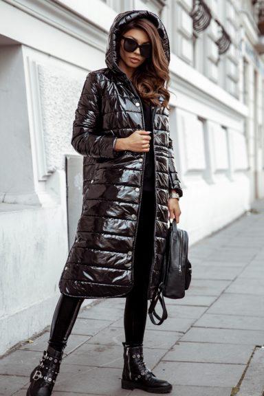 Cocomore czarna kurtka z kapturem odpinane napy L