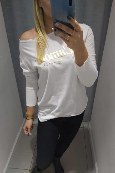 By o la la biała bluzka L'amour bawełna M