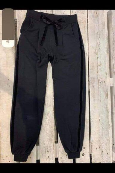 By o la la spodnie czarne lampas S