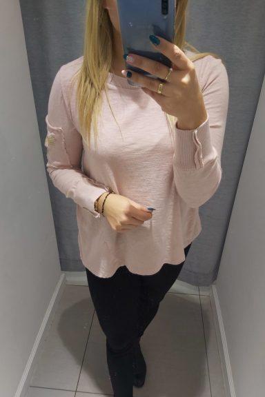 By o la la różowa bluzka naszywka Feniks bawełna M