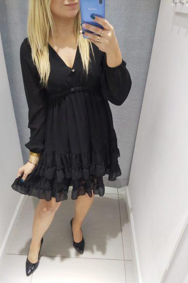 By o la la sukienka falbanki halka czarna M