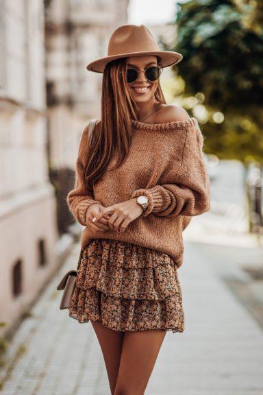 Cocomore sweter rulon karmelowy