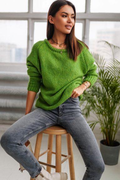 Cocomore sweter rulon zielony