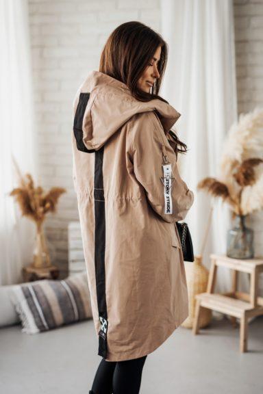 Cocomore beż kurtka parka płaszcz M