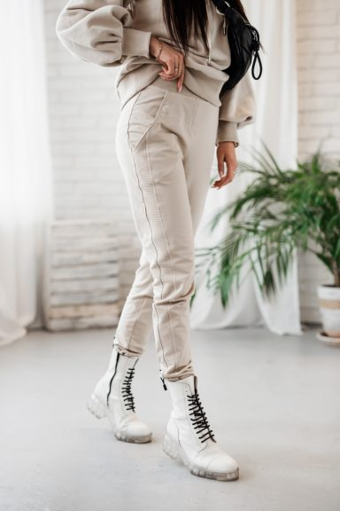 Cocomore beżowe spodnie do bluzy M