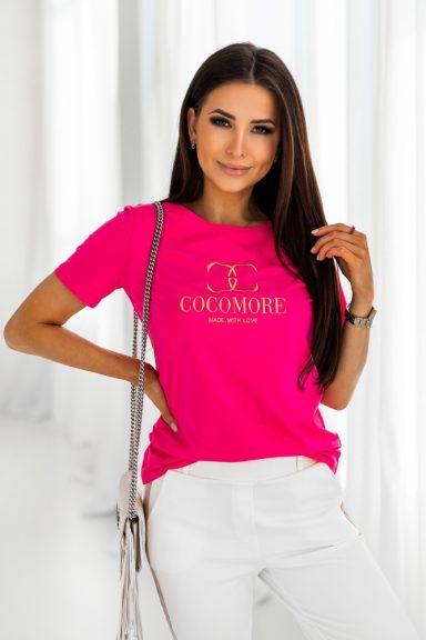 Cocomore amarantowa bluzka T-shirt made with love M